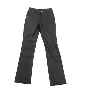 Guess Leather Pants Black Genuine Leather size 2